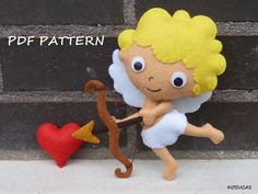 PDF pattern to make a felt Cupid. por Kosucas en Etsy