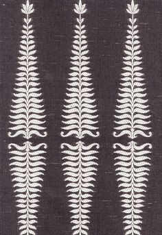 Fabric | Fern Tree in Ivory / Grey Flannel | Schumacher