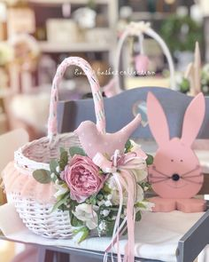Basket Decoration, Table Decorations, Shabby Chic Crafts, House Colors, Birthdays, Easter, Diy Crafts, Wreaths, Spring