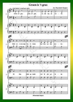 Groen is 't gras - download hiernaast pdf bladmuziek.