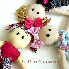 "Rag dolls, Baby, Girls, Soft toys, dolls, rag dolls, handmade dolls, baby gifts""PLAYTIME""by Lollie CoutureCertified Handmade CoutureCompletely baby safe and kid friendly handmade couture rag.."