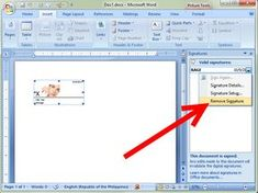 How to Add a Digital Signature in an MS Word Document Microsoft Word Document, Microsoft Excel, Point Words, Digital Signature, Text Symbols, Line Tools, Page Number, Word Pictures, Resume Tips