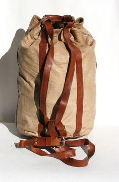 vintage leather rucksack $115