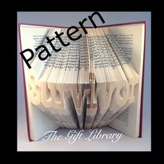 Inspirational Book folding Patterns, Cherry Font Disk 40+ words to choose from
