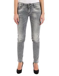 6e0412184807 Timezone Damen Slim Jeanshose EnyaTZ Gr. W29 L32 Grau (Light Grey wash 2085