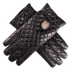 Ladies Black Leather Quilted Gloves with Cashmere Lining To Buy ... : leather quilted gloves - Adamdwight.com