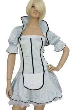 €24.91 @Modebuy #modebuy  Costume Alice Domestique Française Tea Party #france #lingerie #Jaune #discount #prixdegros #eyes #girl #Grande #commentback #Bleu #soldes #outfit #styles