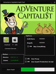 Adventure Capitalist Hack Tool 2018 Download. Adventure Capitalist Hack Tool Forming your own multi-national conglomerate to create a world-wide, monopolistic economy Then AdVenture Capitalist is the game for YOU! It is a great day to announce that our hack team just release the AdVenture Capitalist Hack Tool for public download after many beta testings..