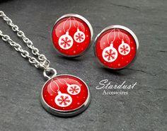 Schmuckset silber ❅ Weihnachtskugeln ❅ von Stardust Accessoires auf DaWanda.com