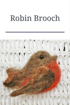 Rustic Robin Brooch, pin - Handmade, needle felted Robin brooch Make a statement with this contemporary hand felted Robin brooch. Entirely handmade at my Lincolnshire studio using traditional needle felting methods with my own blend of wool. Creative Christmas Gifts, Homemade Christmas Gifts, Creative Gifts, Christmas Diy, Needle Felting Kits, Needle Felted Animals, Felt Animals, Shetland Wool, Brooches Handmade