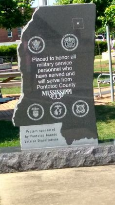 Mississippi shaped memorial dedicated to the veterans of Pontotoc MS Photo - Google Photos