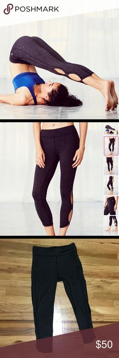 Free people Infinity Legging in Charcoal So-soft cropped activewear leggings with Picot Performance cutouts in an infinity design. Features Performance Seaming and a reflective logo. ONLY WORN A HANDFUL OF TIMES, they are just a little to big. That's why I'm getting rid of them. These are a Medium. Free People Pants Leggings