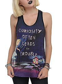 HOTTOPIC.COM - Disney Alice In Wonderland Curiosity  Sublimation Girls Tank Top