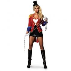 Great Circus Ringmaster Costume Ideas for Halloween. Crack the whip and get the party started in these fantastic ringleader outfits for men & women. Sexy Clown Costume, Ringmaster Costume, Couple Halloween Costumes, Adult Costumes, Costumes For Women, Halloween Party, Halloween 2020, Halloween Ideas, Great Costume Ideas
