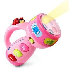 VTech Spin and Learn Color Flashlight. This is one of our favorite toys! I think these wonderful toys will keep your child's interest as they play. Toys for a 1 year old. Toddler Gifts, Toddler Toys, Baby Toys, Kids Toys, Baby Gifts, Children's Toys, Toddler Fun, Baby Play, Pink Gifts