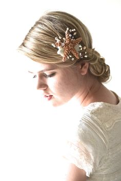 Starfish Hair Accessory Beach Wedding By Hazelfaire