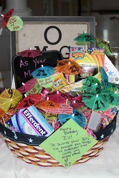 30th Birthday Gift Basket Baskets Gag Gifts Thirty Best