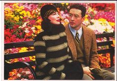 Woody Allens Bullets Over Broadway with John Cusack and Dianne Wiest on Bench 7 x 10... found on Endorfyn.