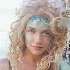 Aphrodite: Mykie's nyx face awards challenge 1 look! Love this for halloween! Makeup Fx, Hair Makeup, Prom Makeup, Eyeliner Makeup, Halloween Kostüm, Halloween Costumes, Halloween Mermaid, Teen Costumes, Fairy Costumes