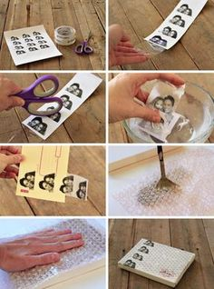 Packing Tape Image Transfers.