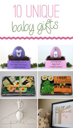 10 Unique Baby Gifts - Pretty My Party #baby #gift #ideas