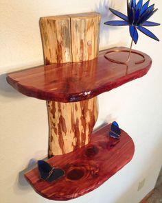 Rustic Eastern Red Cedar Log Shelf / Cabin Decor by BJWoodworks