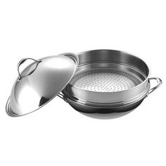Cooks Standard NC-00312 Multi-Ply Clad 5-Ply Stainless Steel Chef's Pan with Steamer and High Dome Lid, 13-Inch - http://cookware.everythingreviews.net/11466/cooks-standard-nc-00312-multi-ply-clad-5-ply-stainless-steel-chefs-pan-with-steamer-and-high-dome-lid-13-inch.html