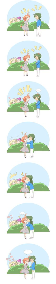 Silence by Mangaka-chan on deviantART What I kind of wished happened at the end of the show… So cute!