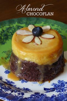 Almond #Chocoflan #recipe via @nibblesnfeasts - This kind of #flan is also known as flan imposible.