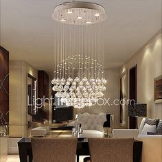 Chandelier , Modern/Contemporary Traditional/Classic Rustic/Lodge Tiffany Vintage Country Island Electroplated Feature for Crystal LED 2017 - $201.59