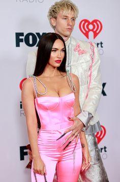 Fox Actress, Megan Denise Fox, Lottie Moss, Pink Jumpsuit, Machine Gun Kelly, Pink Silk, Red Carpet, Fashion Beauty, Celebrity Style