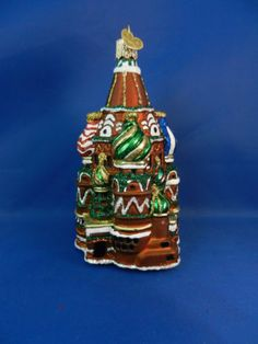 St Basil Cathedral Moscow Glass Merck's Old World Christmas Ornaments NWT 20061