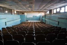 Architizer Blog » Curtain Call: Photographer Captures Abandoned Theaters' Decay Norwich State Hospital, Connecticut. © Julia Solis, 2013