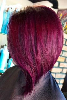 Awesome Purple Red Hair for Your Next Makeover ★ See more: http://lovehairstyles.com/awesome-purple-red-hair/ #colorfulmakeup