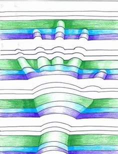 The Lost Sock : Art Elements using Hands Class Art Projects, 8th Grade Art, Drawing Activities, Ecole Art, Math Art, Sharpie Art, Illusion Art, Rainbow Art, Middle School Art