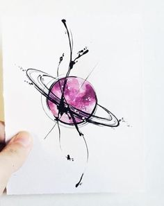 """Art Tattoo Original Sheet in ink and watercolor """" Saturno en Caos """" - Art Tattoo Original Sheet in ink and watercolor """" Saturno en Caos """" - Kunst Tattoos, Body Art Tattoos, Heart Tattoos, Moon Tattoos, Forearm Tattoos, Tatoos, Smal Tattoo, Watercolor Tattoo, Watercolor Paintings"""
