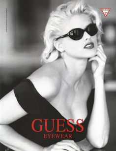 Anna Nicole Smith for Guess eyewear Jayne Mansfield, Anna Nicole Smith Show, Anna Smith, Guess Campaigns, Guess Ads, Guess Models, Top Models, Bombshell Beauty, Guess Girl
