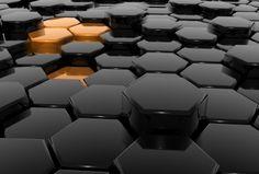 黒とオレンジの六角形の壁紙 | 壁紙キングダム PC・デスクトップ版