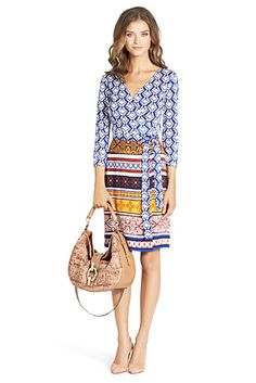 #Diane#von#Furstenberg NEW JULIAN TWO SILK JERSEY WRAP DRES