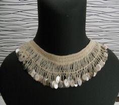 firkete bebek - Google'da Ara Lace Necklace, Lace Jewelry, Diy Jewelry, Jewelery, Jewelry Design, Fashion Jewelry, Hairpin Lace, Crochet Art, Crochet Patterns