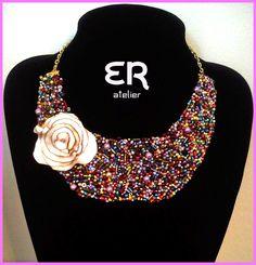 Colar 100% feito à mão / Necklace 100% Handmade | http://www.ednarochaatelier.com