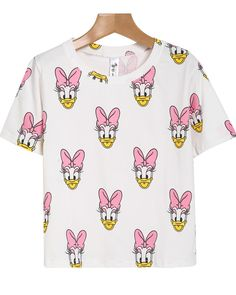 White Short Sleeve Minnie Print T-Shirt 11.90
