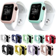 Band Material: SiliconeCondition: New Clasp: noneModel: Watch Case for iWatch Series Fall Resistant Soft TPU Silicone Case for Apple Watch Type: WatchbandBand Length: Apple Watch Series 4 Apple Watch Series, Apple Watch Bands, Cool Watches, Watches For Men, Gps Watches, Apple Watch Accessories, Android Watch, Gadgets, Series 4