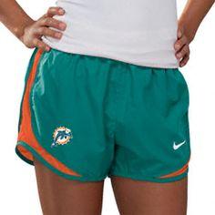 747d95689765 Miami Dolphins Women s Aqua Nike Dri-Fit NFL Tempo Short  35.99 http
