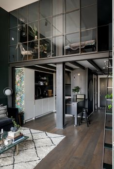 Small Scandinavian loft in moody dark colors This small loft in Sweden is decorated in dark colors, but the designers approached the selection of the shade seriously - the color of the walls is not ✌Pufikhomes - source of home inspiration House Design, Apartment Design, Home, Apartment Interior, Small Loft Apartments, Urban Loft, Home Interior Design, Scandinavian Loft, Loft Interior Design