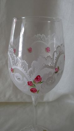 Hand painted wine glass hand painted goblet handpainted by Aligri