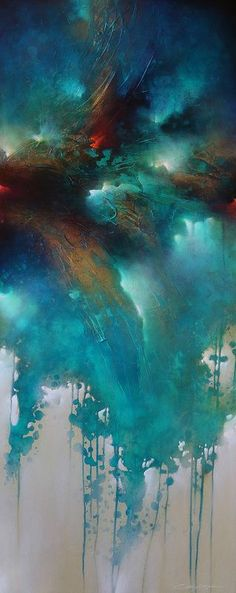 Beautiful glowing teal abstract painting. Sold Archives - Cody Hooper Art