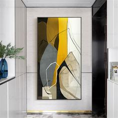 Gold art abstract painting canvas art wall art pictures for living room wall decor hallway home decoration acrylic art black yellow Original - cuadros - Artikel Oil Painting Abstract, Abstract Canvas, Painting Canvas, Watercolor Painting, Diy Canvas Art, Canvas Wall Art, Modern Canvas Art, Modern Art, Canvas Tent
