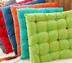 1pcs Thicken Tatami colorful plush seat cushion office home Dining seat Pad Cartoon cute student dining chair cushion chair Pad/ Chair Cushion/ Office Cushion/sofa Cushion random color