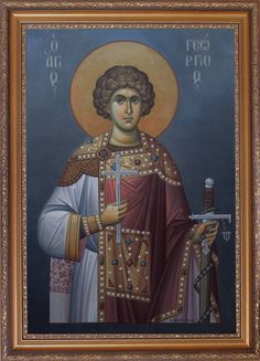 A Vision of Saint George the Great Martyr In Glory Byzantine Icons, Byzantine Art, Christ Is Risen, Archangel Michael, Religious Icons, Orthodox Icons, Saints, Religion, Christian